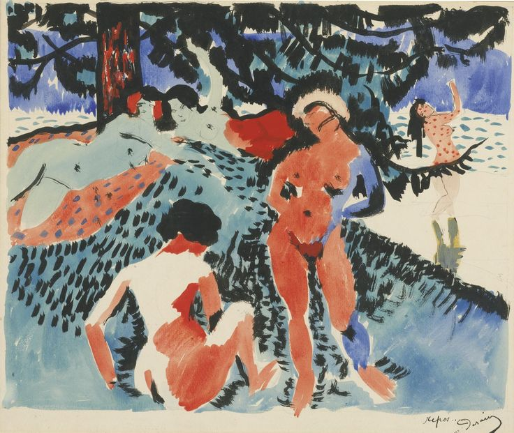 Andre Derain (1880-1954) Le Repos 1906 (41 by 49 cm)