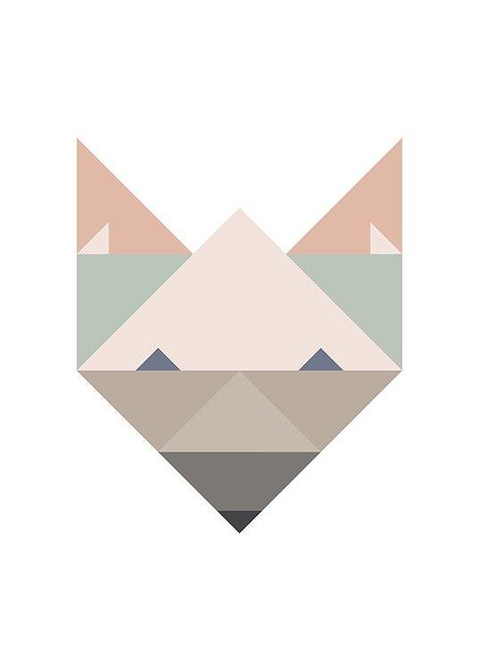 geometric fox print