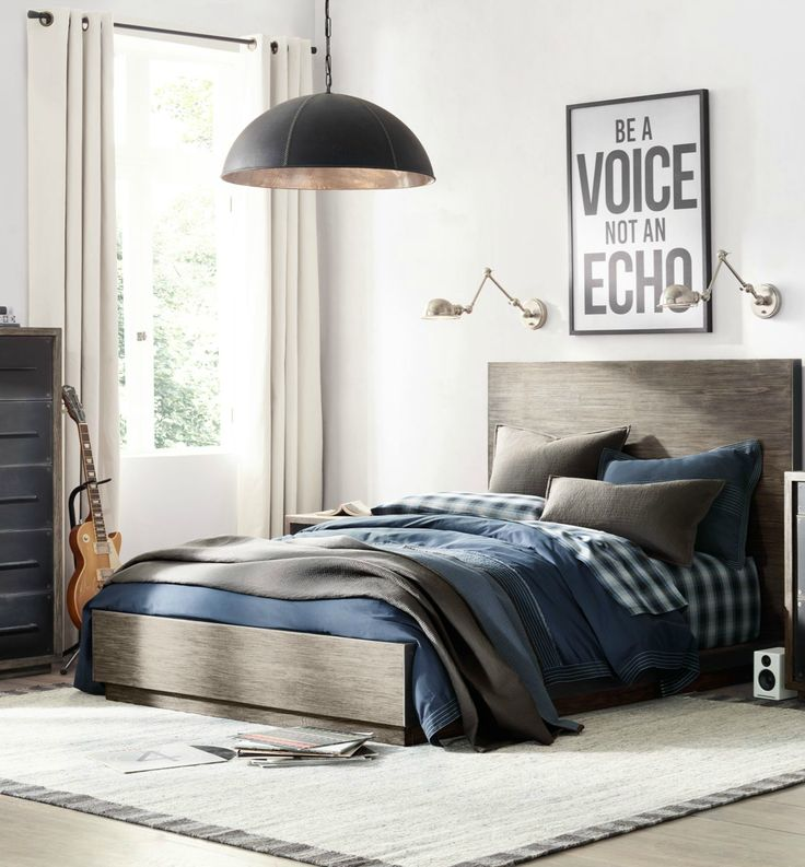 steel trimmed hardwood a streamlined silhouette contemporary comfort male bedroom decormen bedroomteen. Interior Design Ideas. Home Design Ideas