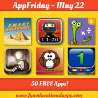 A great AppFriday today with 50 Apps for kids and education. Like math …we have some cool apps including two SMART Adventure Missions Math and a fully comprehensive math program; 3 Sago Mini Apps … and a lot more!  Happy download and have fun with apps! http://www.funeducationalapps.com/2015/05/50-best-free-apps-for-kids-and-education-appfriday-may22.html