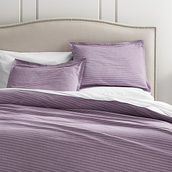 Dylan Purple Twin Duvet Cover  | Crate and Barrel
