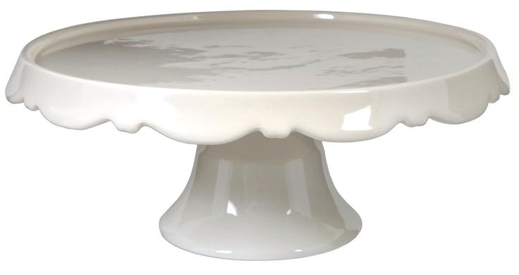 Davis and Waddell Cream / White Pedestal Cake Stand