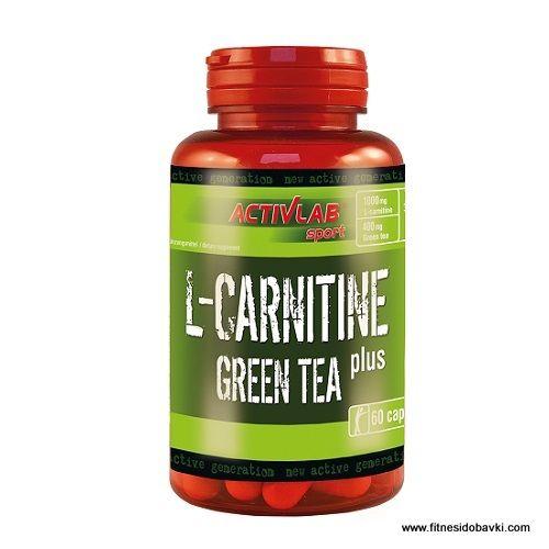 Activlab L-Carnitine plus Green Tea съдържа аминокиселината л-карнитин, екстракт от зелен чай,EGCG и кофеин. Купи на ниска цена от fitnesidobavki.com.