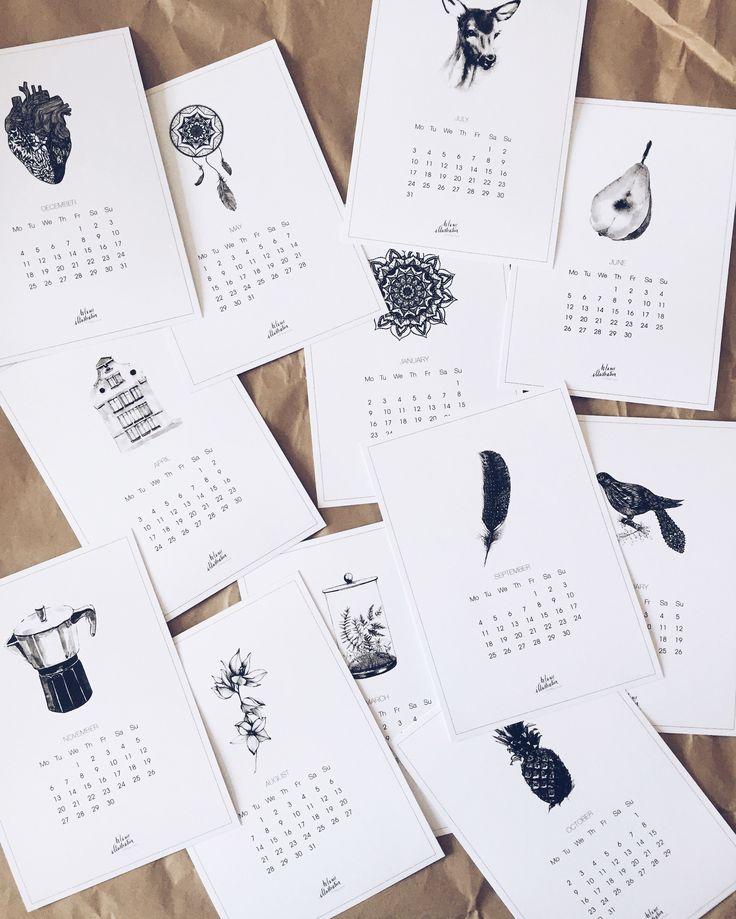 graphics calendar 12 prints, 12 months