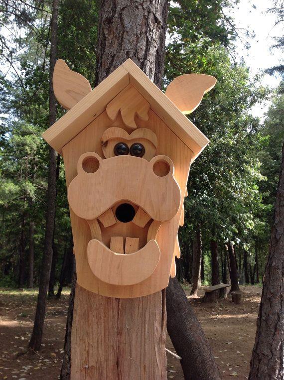 Handmade Wooden Horse Birdhouse by DJsHomespunHeart on ...