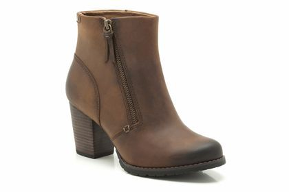 Womens Casual Boots - Macay Holly in Brown Leather from Clarks shoes 640 kr.