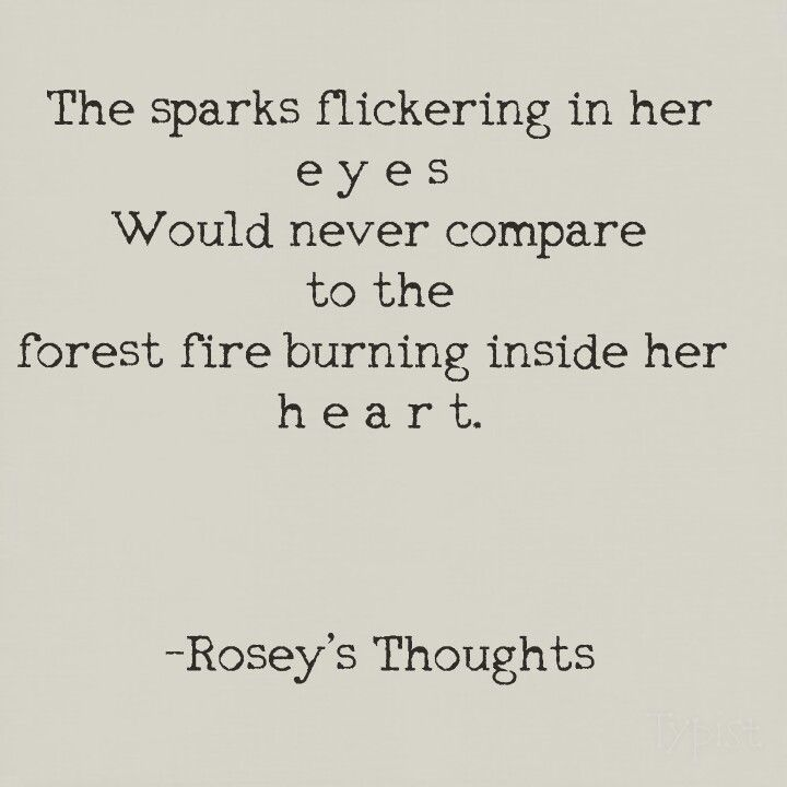 Sparks and forest fires