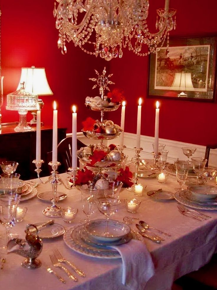 red christmas table decorations. Top 150 Christmas Tables (2/5)🎄 Red Table Decorations