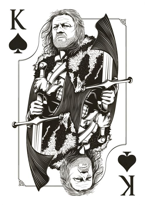 The Game of Thrones (playing cards) by Jim Tuckwell
