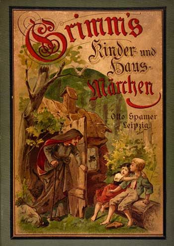Cover of fairy tales by Grimms, 1894 German edition.