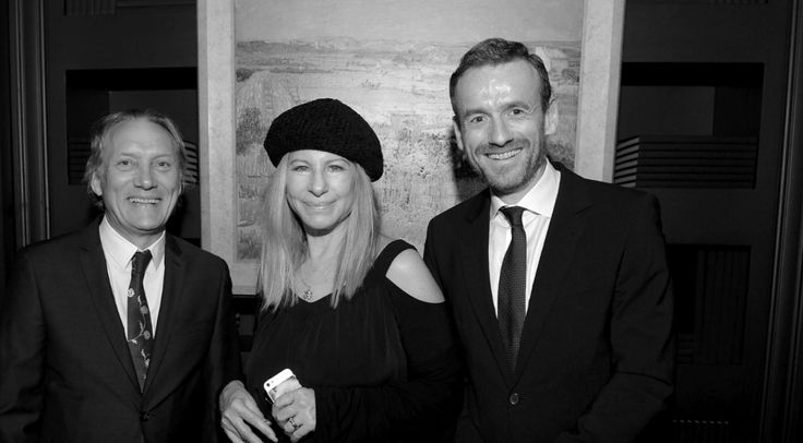 Willem van Gogh, Barbara Streisand, Axel Rutger at the Official Launch of the Van Gogh Museum Editions USA.