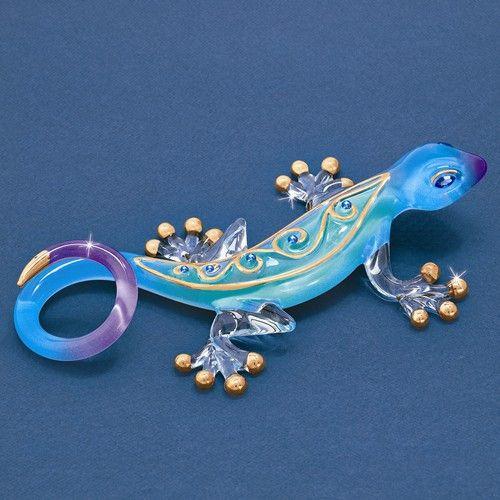Desert Jewel Gecko Glass Baron Figurine – Sparkle & Jade