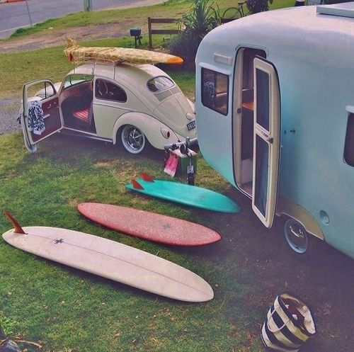 Surf trip... DO YOU WANNA TRY ONE? Live the Surf Life! Surf, Love, Camping, Cars, Surfboards, Color, Design, Vibes, Positive, Peace, Surfer Girl www.pufferfishswimwear.com