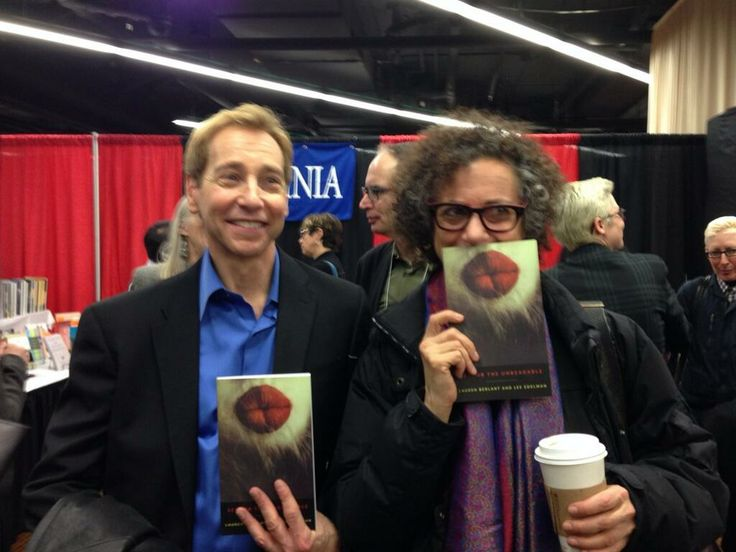 Lee Edelman and Lauren Berlant pose with their book at MLA 2014