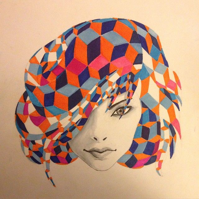 Geometry on my mind. By Julian Rebel Pencil and markers.