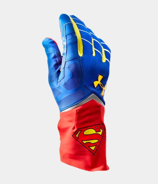 Men's Under Armour® Alter Ego Superman Highlight Football Gloves | Under Armour US