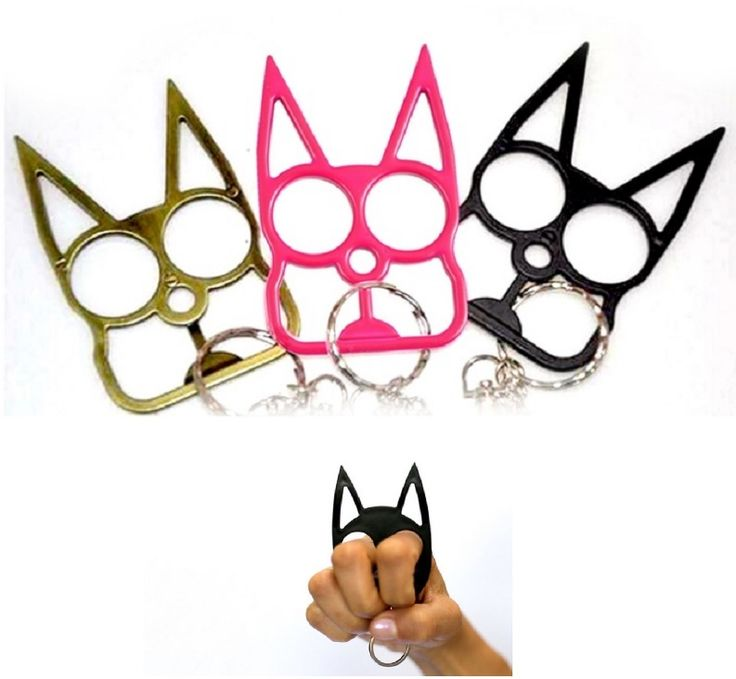 Cat shaped self defense tools keychain for emergency, safety, survival