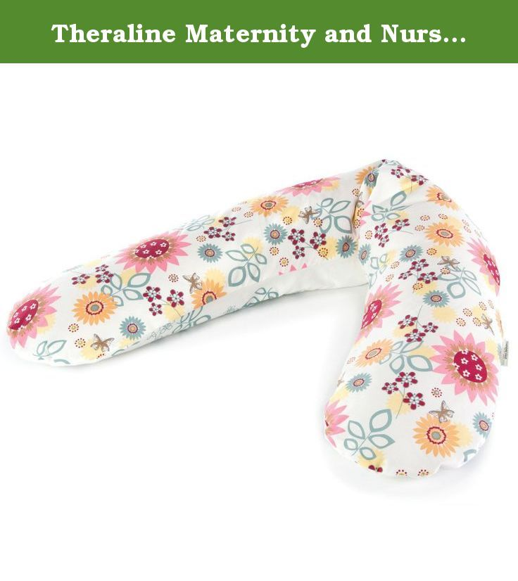 Theraline Maternity and Nursing Support, Multi Flowers. The Original Theraline Maternity and Nursing Pillow has a filling made up of millions of micro beads that are light as a feather. This amazing filling conforms to the shape of your body, no matter what position you are in.. whether lying down or sitting up and, unusual for a pillow, it always remains firmly in place without giving way. It is antiallergenic, warm, breathable and can be washed at 140 Degree F. Theraline pillow covers…
