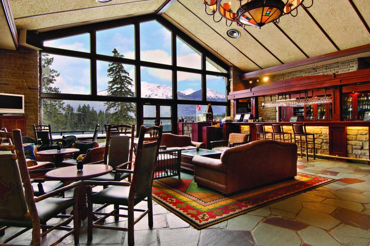 The Emerald Lounge at the Fairmont Jasper Park Lodge in Jasper, Alberta