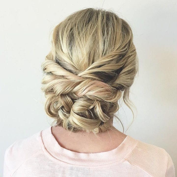 Beautiful braid updo wedding hairstyle for romantic brides – Psalm 128