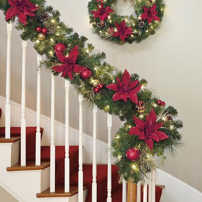Costco Artificial Christmas Trees: Decorated 9' Artificial Garland