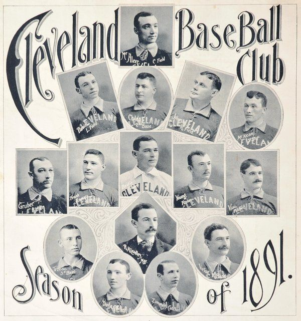 1891 Cleveland Spiders Baseball Schedule - Featuring Cy Young in His First Full Season