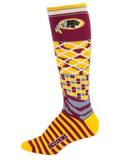 Ladies Redskins Knee High Smack Socks