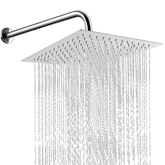 12 Inch Shower Head With 15 Inch Extension Arm Nearmoon Square