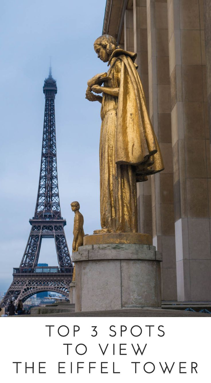 Top 3 Spots to View the Eiffel Tower. The ultimate travel tip for one of Paris' most iconic landmarks. From less crowded spots to see the Eiffel Tower to unique views, click through for a list (and a map!) of the best spots to view the Eiffel Tower.
