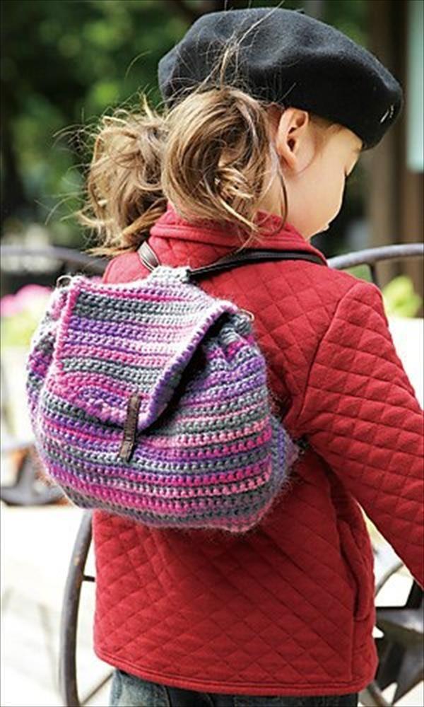 10 Free Kid's Crochet Backpack Patterns | 101 Crochet