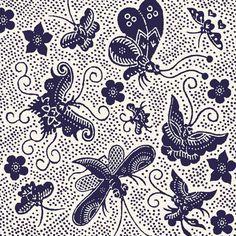 Batik Pattern — butterflies