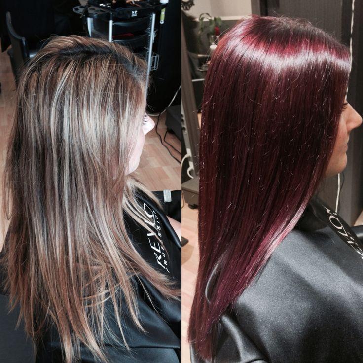 Merlot red wine hair