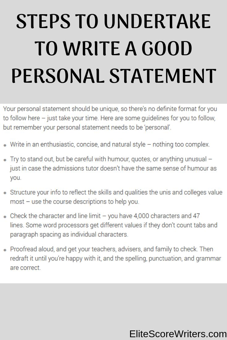 Personal statement essay for college application how to start