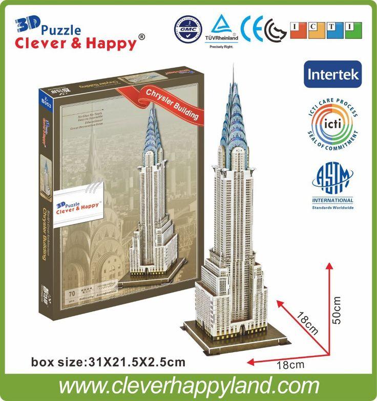 PAPER 3D Puzzle 3D Architecture Puzzle The Chrysler building modle educational puzzle #Affiliate