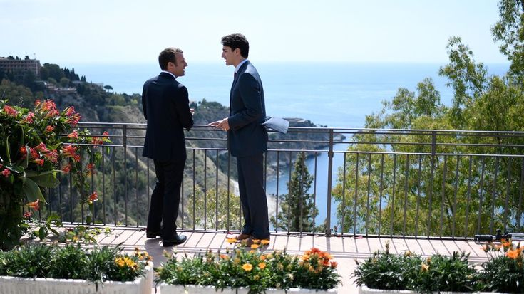 Bromance at NATO G7:  PM Justin Trudeau and President Emmanuel Macron