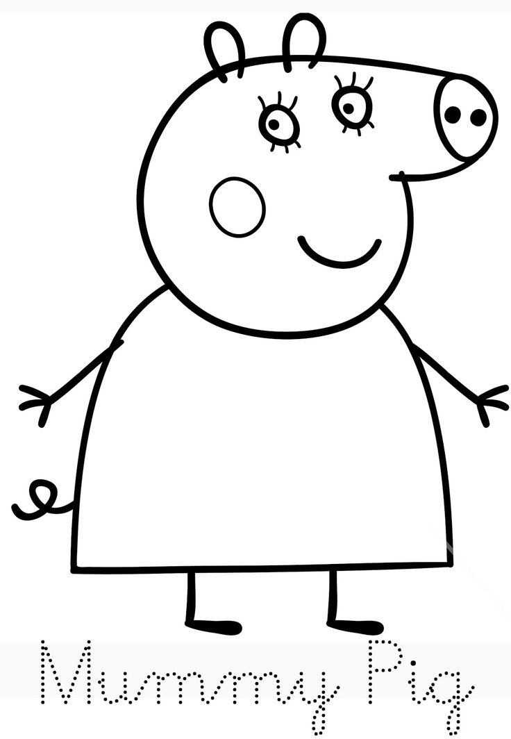 best 25+ peppa pig colouring ideas on pinterest | pepper pig world ... - Peppa Pig Coloring Pages Print