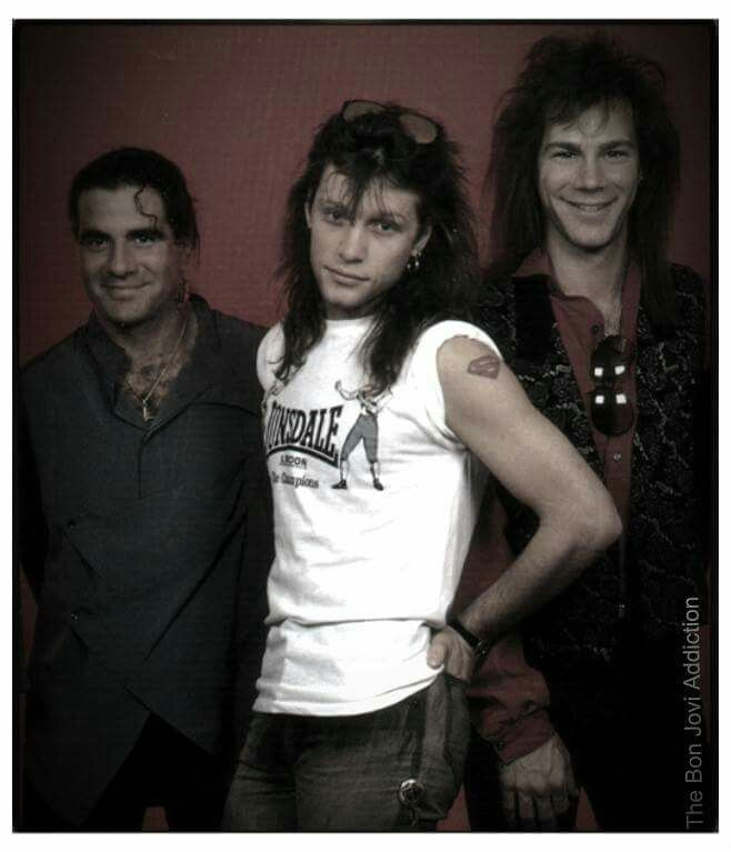Tico Torres, Jon Bon Jovi, and David Bryan of Bon Jovi