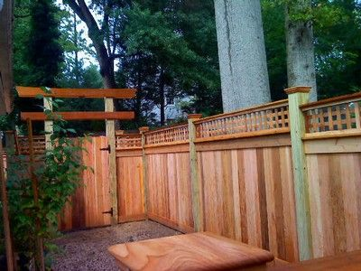 19 best fences and gates images on pinterest fence ideas for Craftsman style fence