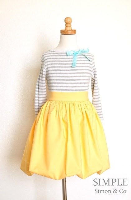 Yellow Bubble Skirt 39