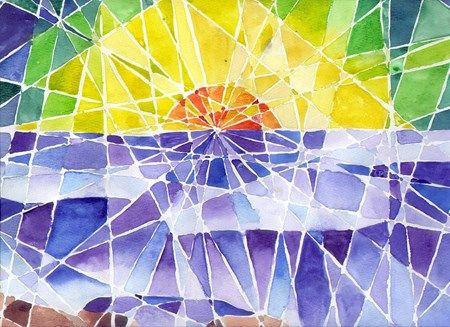 Lauren224's art on Artsonia valkoisella vahvärillä viivat ja sitten maalaamaan.