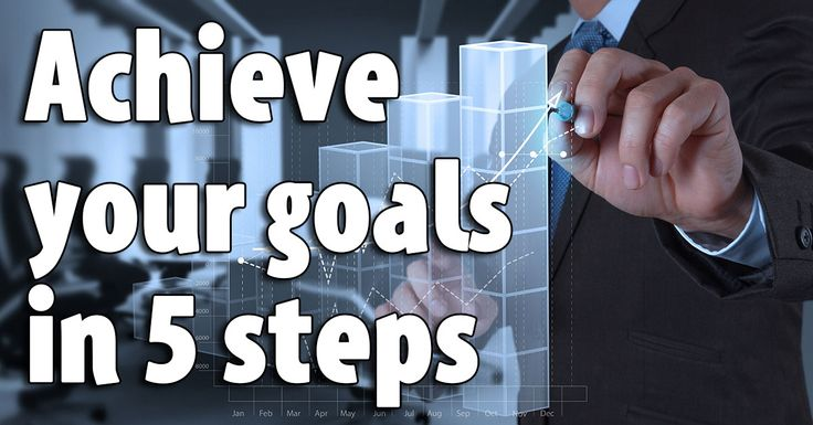 Anybody can set goals, but did you know that you can also achieve your goals? Take these five steps today to help yourself achieve your goals. #achieveyourgoals #businesssuccess #happiness