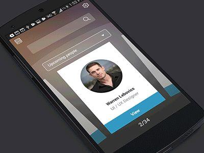#UI #Mobile #Navigation - Card Swipe Interaction