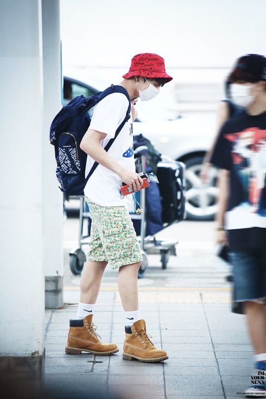 The ONLY person I know who would wear Nike socks with Timberlands..... X) | BTS BANGTAN BOYS ...
