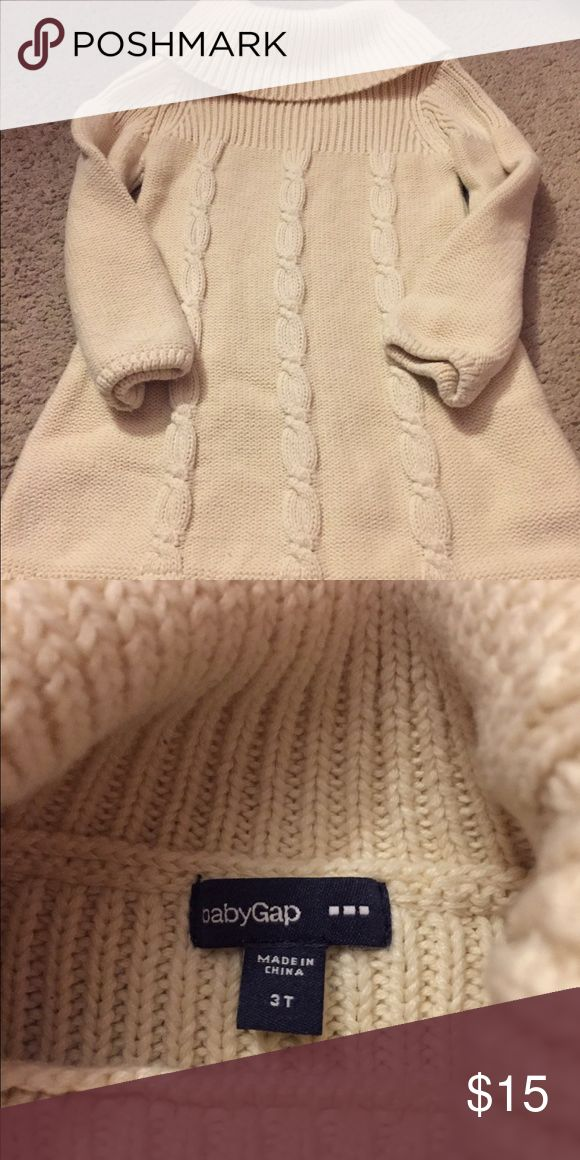 Baby Gap ( outlet ) Ivory sweater dress Size 3T, great condition, Ivory cowl neck sweater dress. From the Gap Outlet GAP Dresses