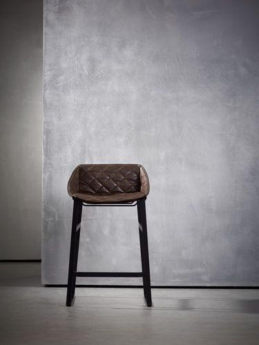 Contemporary leather bar chair KEKKE DINING SERIES Piet Boon Collection