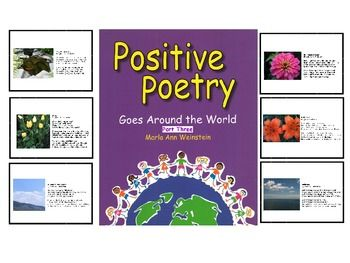 Positive Poetry PowerPoint Presentation #7 was created to engage the reader through fun rhymes that teach positive messages in hope to motivate children to lead productive and positive lives. Each poem is complemented with nature photography. The nature photography brings deeper meaning towards the message conveyed in each poem.