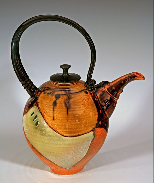 Teapot oranges and browns by Timothy Sullivan