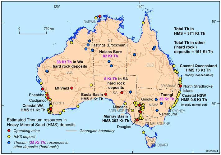 Map Aust Thorium