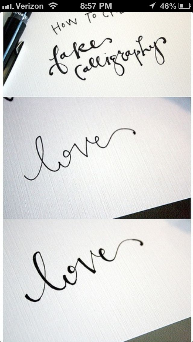 How to create fake calligraphy and