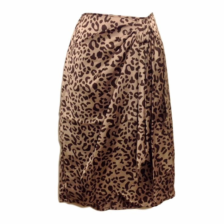 Faux Wrap Sarong Style Leopard Cheetah Skirt NWT Orig $58 #ZuriZuribyFlora #FauxWrapSarong